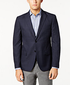 Ryan Seacrest Distinction™ Men's Slim-Fit Blue & Gray Windowpane Sport Coat, Created for Macy's