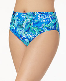 Lauren Ralph Lauren Plus Size High-Waist Bikini Bottoms