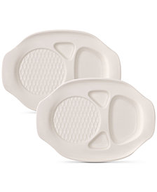 Villeroy & Boch BBQ Passion Collection 2-Pc. Burger Plate