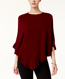 Karen Scott Ruffled Poncho Sweater, Created for Macy's