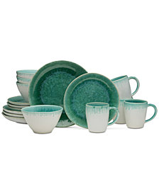 Mikasa Aventura Green 16-Piece Dinnerware Set, Service for 4
