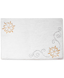 "CLOSEOUT! Lenox French Perle Groove Holiday 20"" x 30"" Bath Rug"