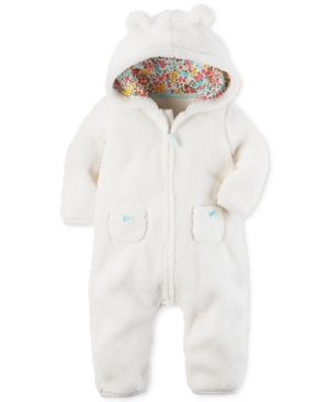 Carters 1Pc Hooded Fleece Coverall Baby Girls (024 months)