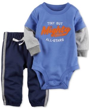 Carters 2Pc Cotton LayeredLook Bodysuit  Pants Set Baby Boys (024 months)