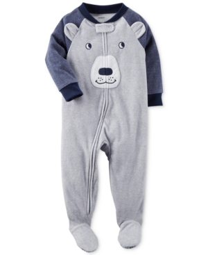 Carters 1Pc Bear Footed Fleece Pajamas Baby Boys (024 months)
