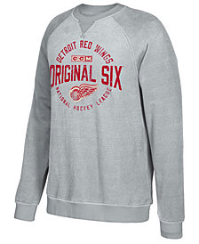 CCM Men's Detroit Red Wings Original 6 Classic Crew Sweatshirt