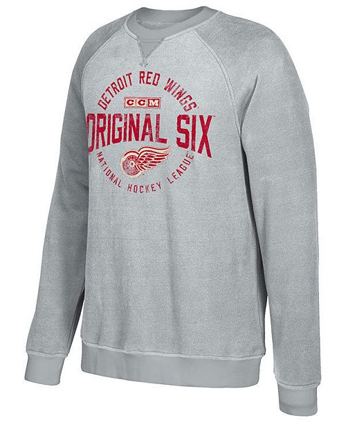 a8b8a4070 ... CCM Men s Detroit Red Wings Original 6 Classic Crew Sweatshirt ...