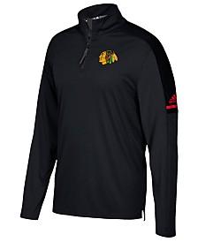 adidas Men's Chicago Blackhawks Authentic Pro Quarter-Zip Pullover