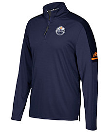 adidas Men's Edmonton Oilers Authentic Pro Quarter-Zip Pullover