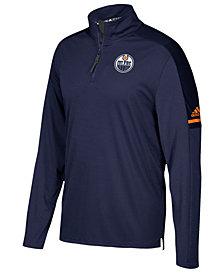 adidas Men's Edmonton Oilers Authentic Pro Quarter-Zip Pullover