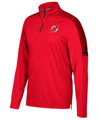 adidas Men's New Jersey Devils Authentic Pro Quarter-Zip Pullover