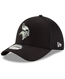 New Era Minnesota Vikings Black/White Neo MB 39THIRTY Cap
