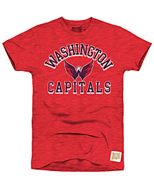 Retro Brand Men's Washington Capitals First Line Logo T-Shirt