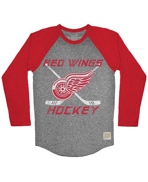 more photos de5dc f2b57 Retro Brand Men's Detroit Red Wings Reggie Raglan Long ...