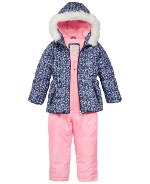 Carters 2Pc Hooded Jacket with FauxFur Trim  Pants Snowsuit Toddler Girls (2T5T)