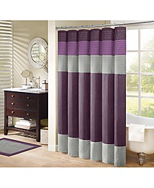 """Amherst Colorblocked 72"""" Square Faux-Silk Shower Curtain"""