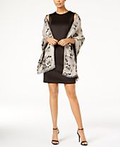 I.N.C. Floral Jacquard Wrap & Scarf in One, Created for Macy's