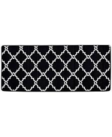 "Madison Park Essentials Merritt Reversible 24"" x 58"" Fretwork-Print Memory Foam Fleece Bath Rug"