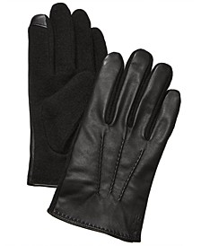 Men's Hand-Stitched Nappa Leather Touch Gloves