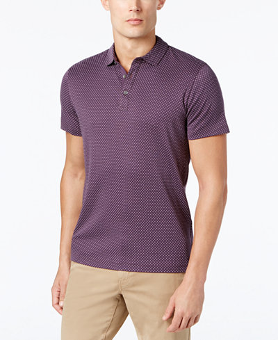 Michael Kors Men's Pin Dot Pima Cotton Polo