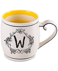 "Home Essentials Katie and Mandy Monogram ""W"" Mug"