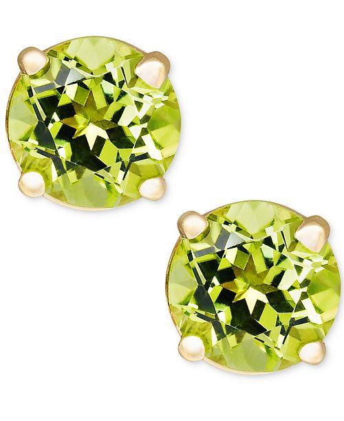 Macy's Peridot Stud Earrings in 14k Gold (1 ct. t.w.)