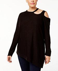 Love Scarlett Plus Size Cutout Angled-Hem Top