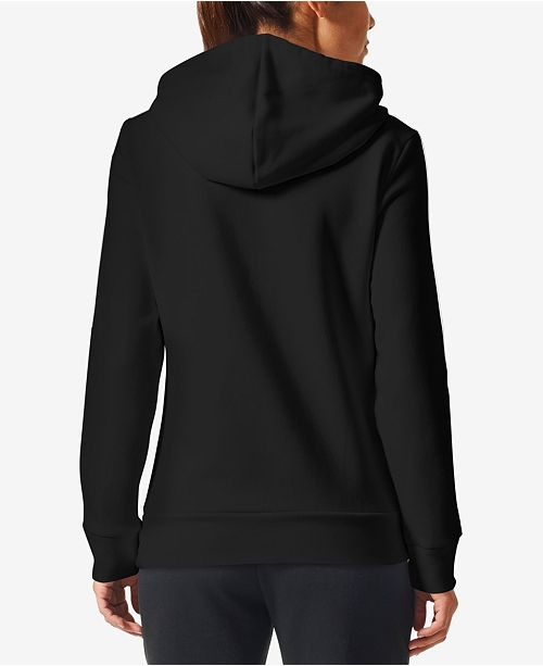 Essentials Fleece adidas Black Hoodie White p0UxSpWqwd