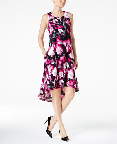Alfani Petite Printed High-Low Dress, Created for Macy's