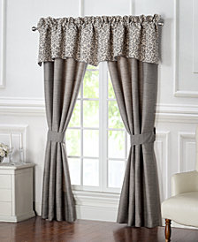 "Waterford Charlize Gray 55"" x 18"" Scalloped Window Valance"