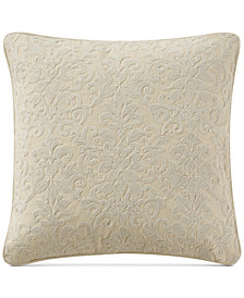 "Waterford Charlize Embroidered Gold 18"" Square Decorative Pillow"