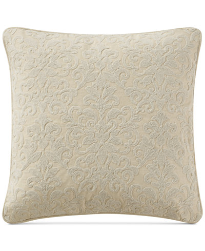 Waterford Charlize Embroidered Gold 40 Square Decorative Pillow Fascinating Gold Decorative Bed Pillows
