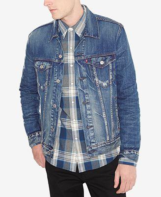 Levi's® Men's Big & Tall Denim Trucker Jacket - Coats & Jackets ...