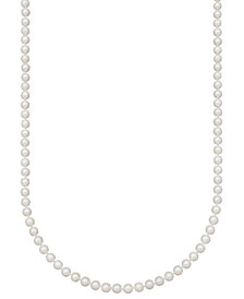 "Belle de Mer Pearl Necklace, 20"" 14k Gold A+ Akoya Cultured Pearl Strand (6-6-1/2mm)"