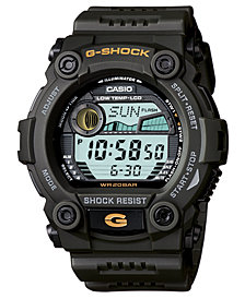 G-Shock Men's Digital Dark Olive Green Resin Strap Watch 50mm