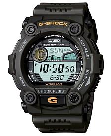G-Shock Men's Digital Dark Olive Green Resin Strap Watch 50mm