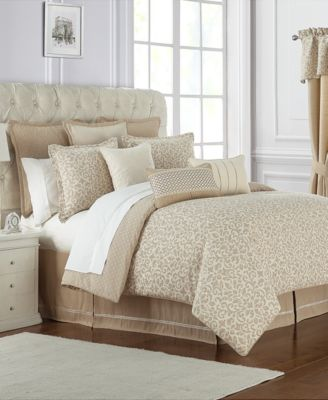 Charlize Reversible 3-Pc. Gold Queen Comforter Set