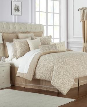 Waterford Charlize Reversible 3Pc Gold California King Comforter Set Bedding
