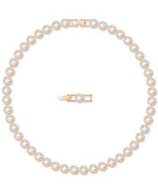 Rose Gold-Tone Crystal Halo All-Around Collar Necklace