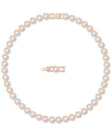 Swarovski Rose Gold-Tone Crystal Halo All-Around Collar Necklace