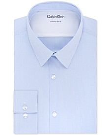 X Men's Extra-Slim Fit Thermal Stretch Performance Stripe Dress Shirt