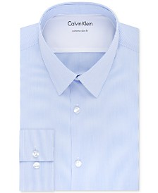 Calvin Klein X Men's Extra-Slim Fit Thermal Stretch Performance Stripe Dress Shirt