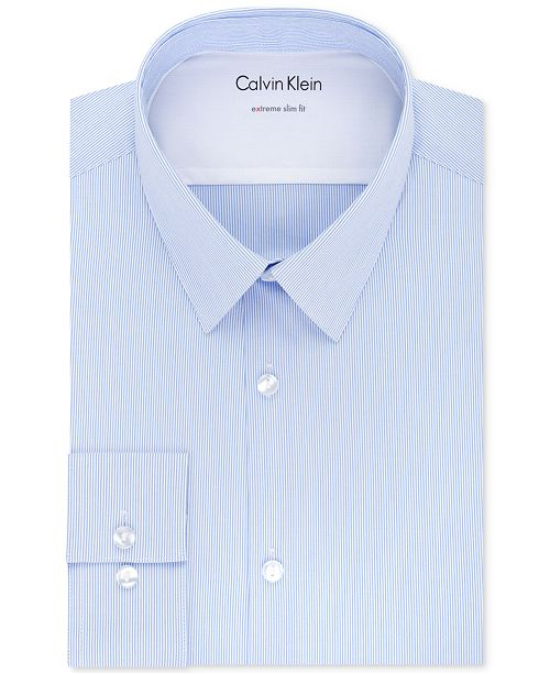 7d13ae1c5817 ... Calvin Klein X Men's Extra-Slim Fit Thermal Stretch Performance Stripe Dress  Shirt ...