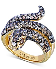 Le Vian® Diamond Snake Coil Ring (2 ct. t.w.) in 14k Gold