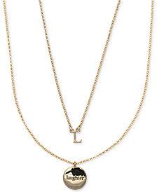 Ivanka Trump Gold-Tone 2-Pc. Set Initial and Disc Pendant Necklaces