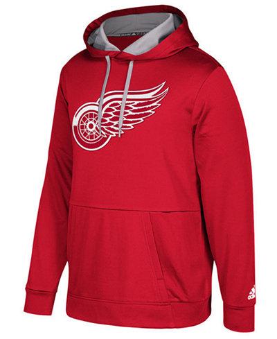 adidas Men's Detroit Red Wings Primary Pullover Social Hoodie