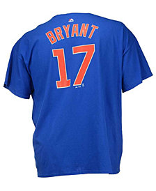 Majestic Men's Kris Bryant Chicago Cubs Official Player 3XL-4XL T-Shirt