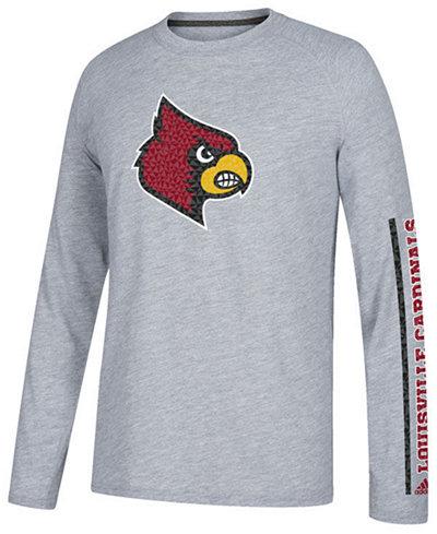 adidas Men's Louisville Cardinals Play Long Sleeve T-Shirt