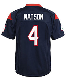 Nike DeShaun Watson Houston Texans Game Jersey, Big Boys (8-20)