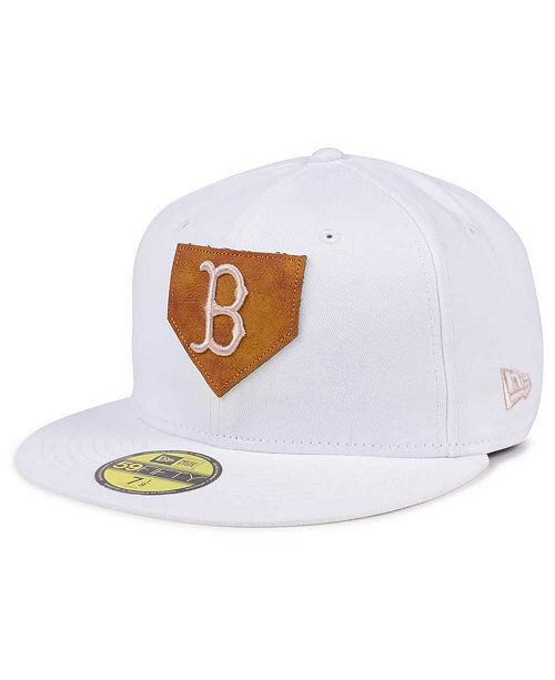 New Era Boston Red Sox The Logo of Leather 59FIFTY Cap - Sports Fan ... 48c77899412d